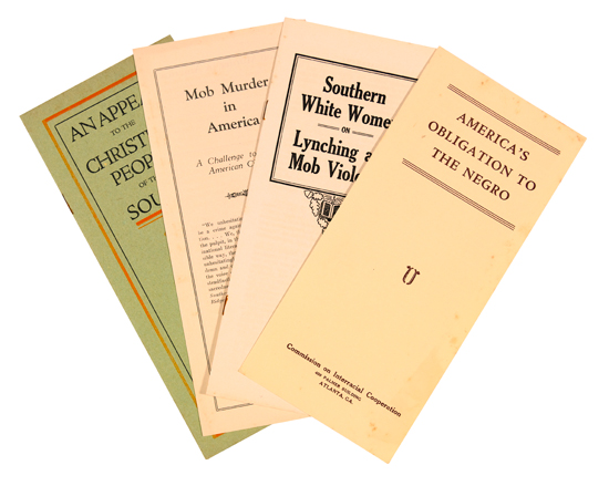 (CIVIL RIGHTS--LYNCHING.) Group of Seventeen Anti-lynching pamphlets, issued by the Commission on Interracial Cooperation.