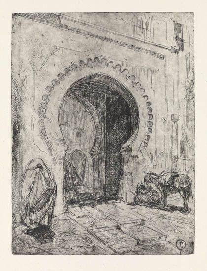 HENRY-OSSAWA-TANNER-(1859---1937)-Gateway-in-Tangier