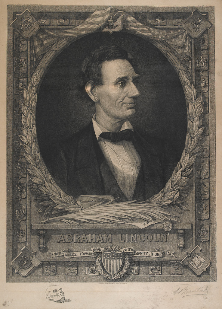 (SLAVERY AND ABOLITION.) LINCOLN, ABRAHAM. ROSENTHAL, MAX. Abraham Lincoln--With Malice Toward None, With Charity for All.