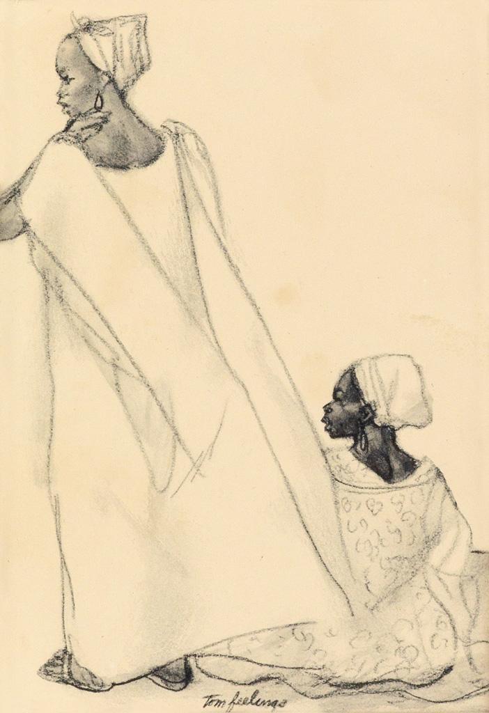 TOM-FEELINGS-(1933---2003)-Two-drawings