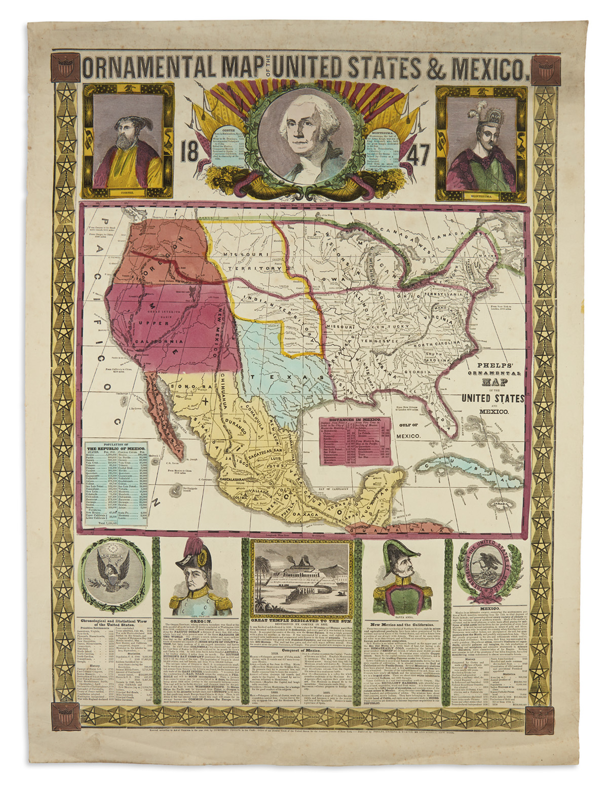 PHELPS-HUMPHREY-Ornamental-Map-of-the-United-States--Mexico