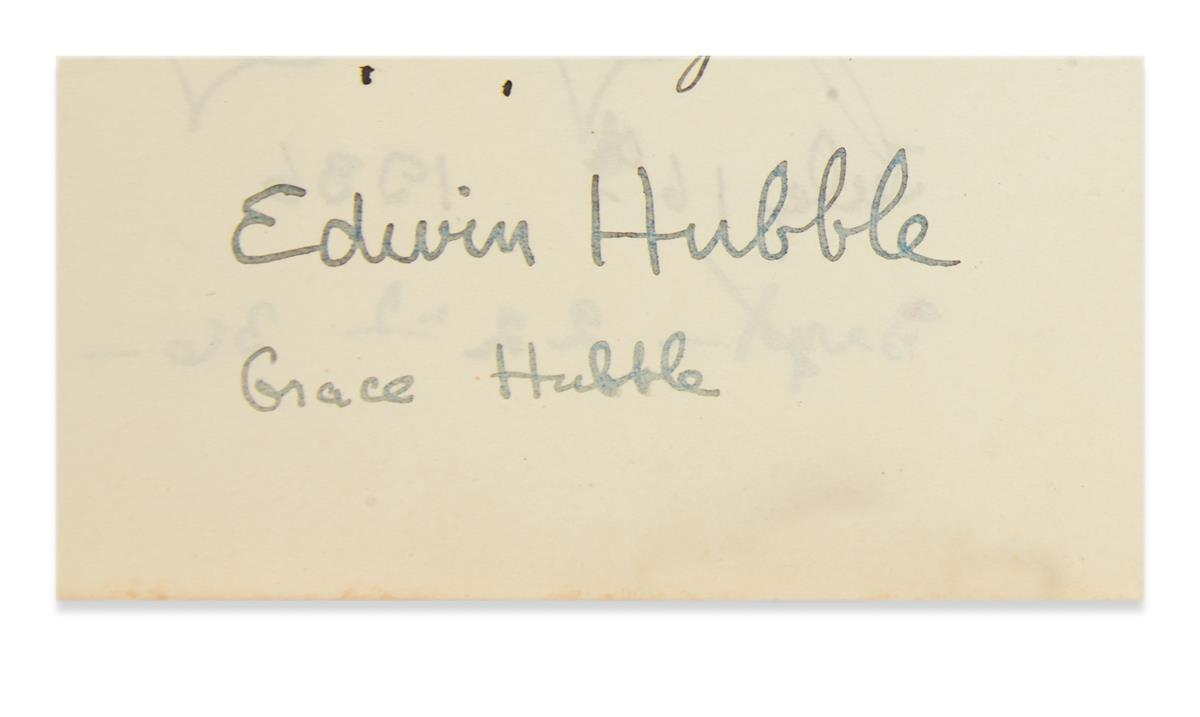 (SCIENTISTS)-HUBBLE-EDWIN-Signature-on-a-leaf-removed-from-a