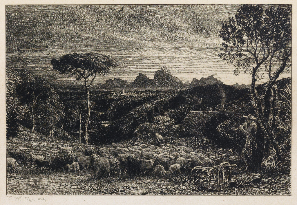 SAMUEL-PALMER-Opening-the-Fold-(Early-Morning)
