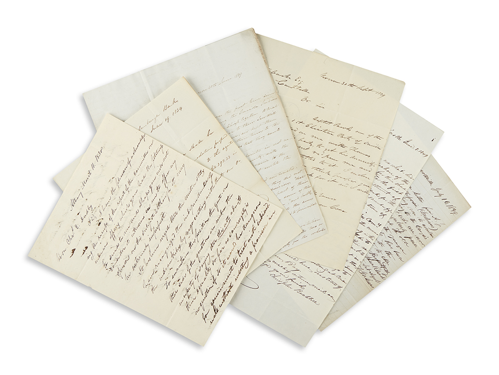 (AMERICAN INDIANS.) Group of letters relating to American Indians in New York.