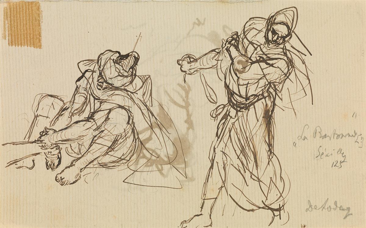 ALFRED-DEHODENCQ-(Paris-1822-1882-Paris)-Group-of-8-drawings
