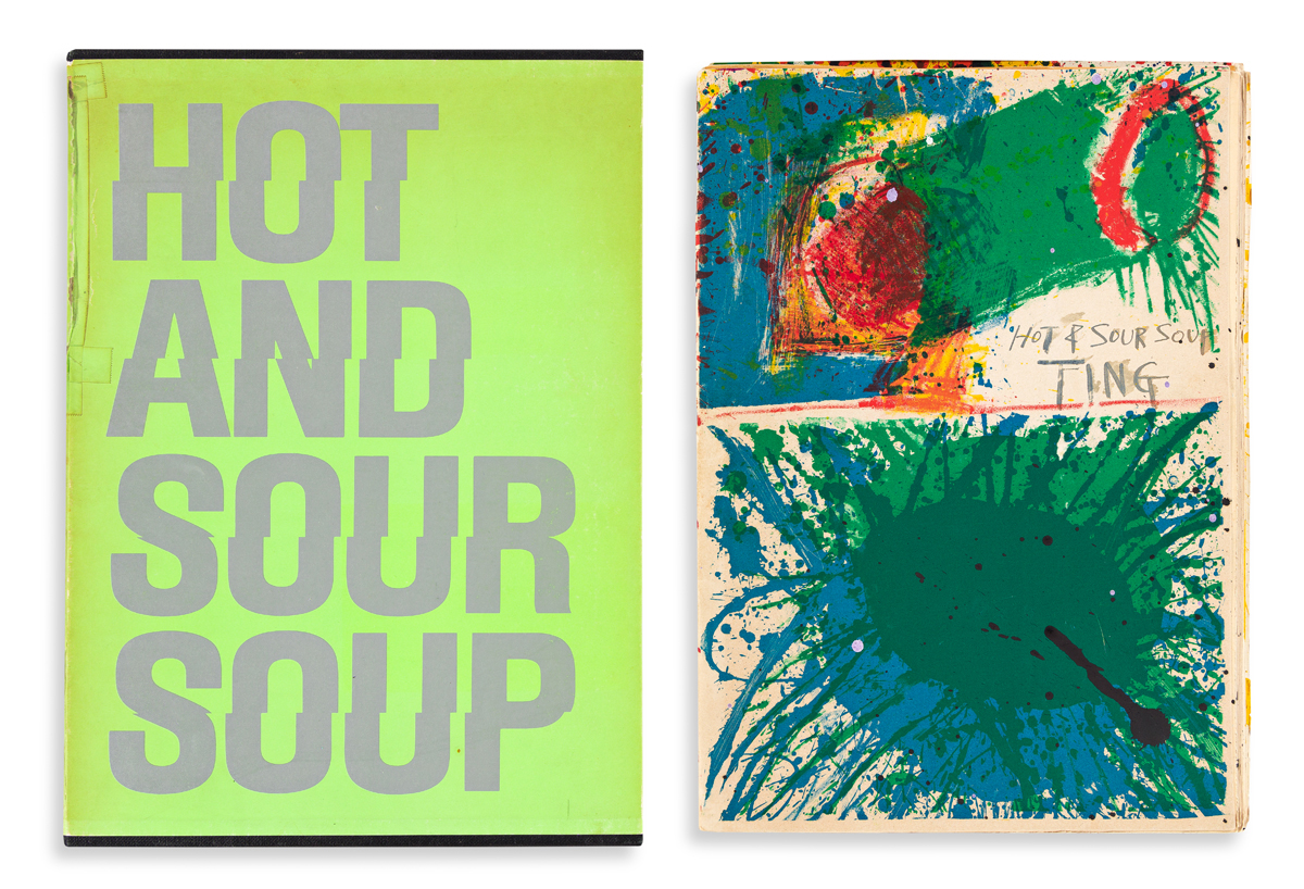WALASSE TING (1929 - 2010, CHINESE/AMERICAN) i) Hot and Sour Soup, ii) Hot and Sour Soup, iii)Green Banana, (Three Portfolios).
