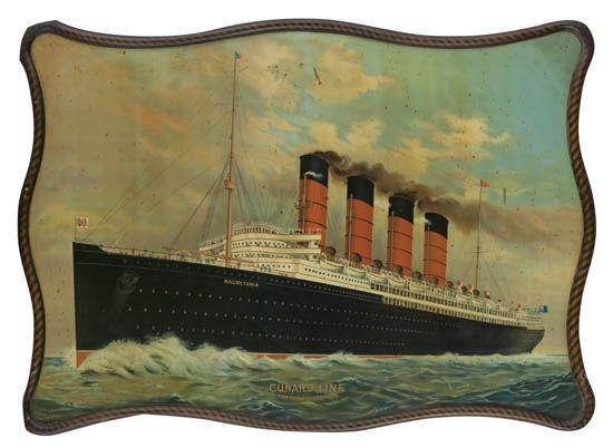 (CUNARD LINE.) Mauretania (I). Cunard Line - Liverpool.