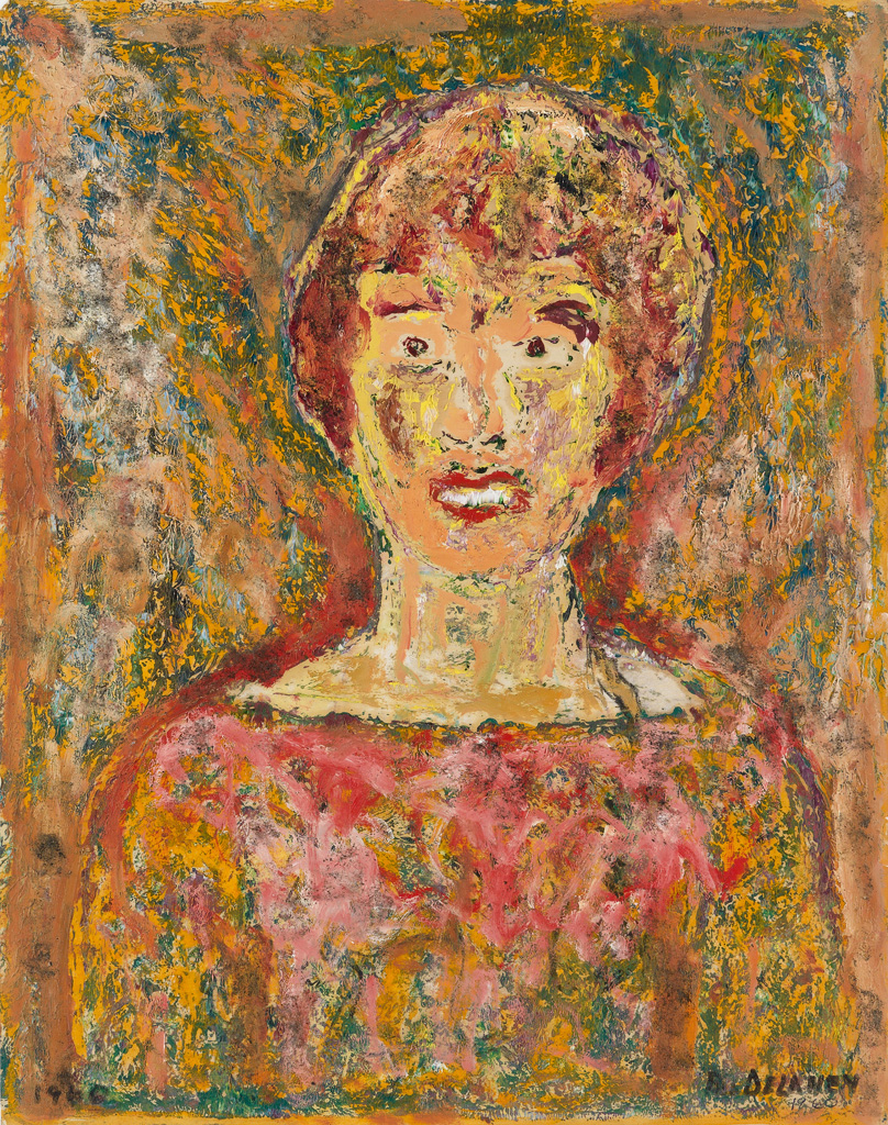 BEAUFORD DELANEY (1901 - 1979) Untitled (Woman in an Abstract Field).