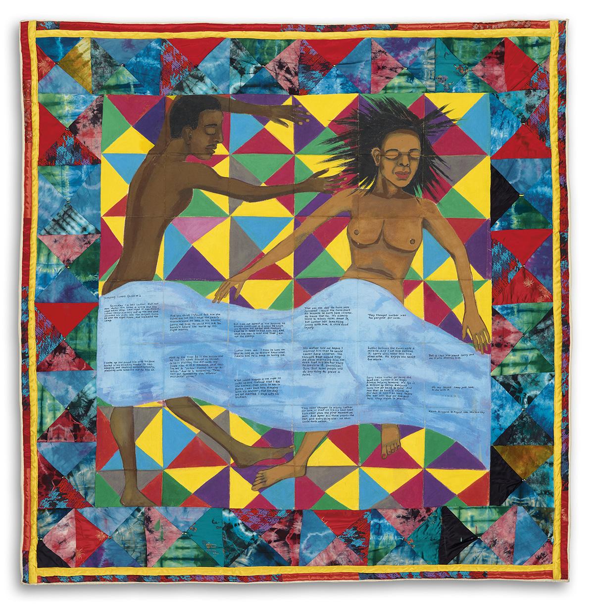 FAITH-RINGGOLD-(1930-----)-Sleeping-Lovers-Quilt-2