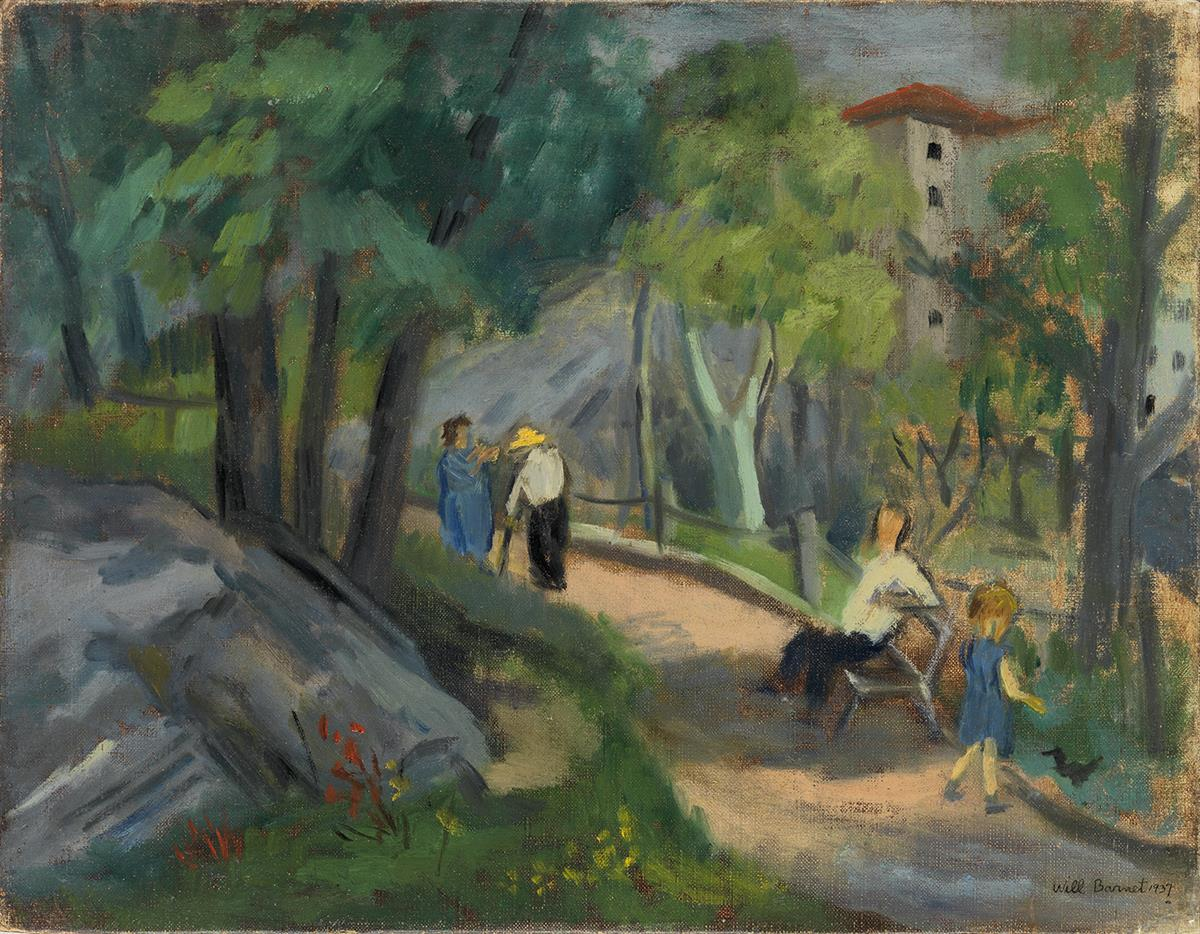 WILL-BARNET-Park-Scene