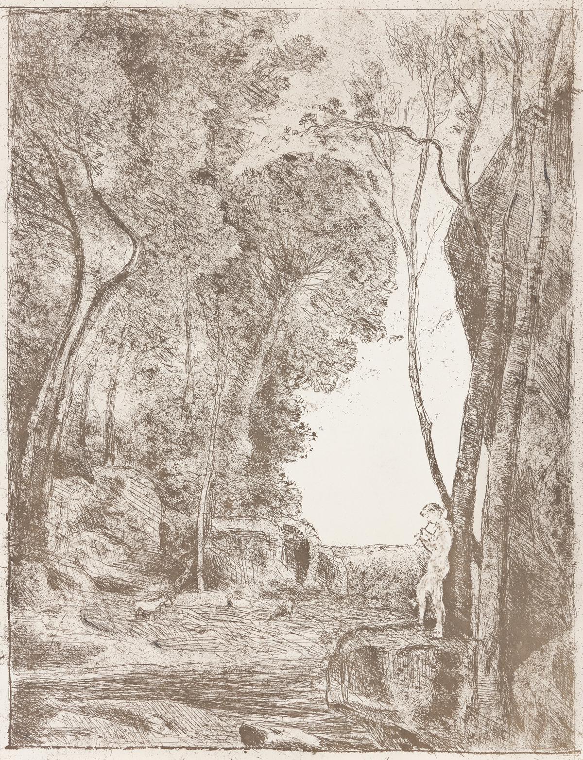 JEAN-BAPTISTE-CAMILLE COROT Le Petit Berger (première planche).