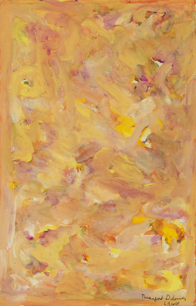BEAUFORD DELANEY (1901 - 1979) Untitled (Yellow Field).