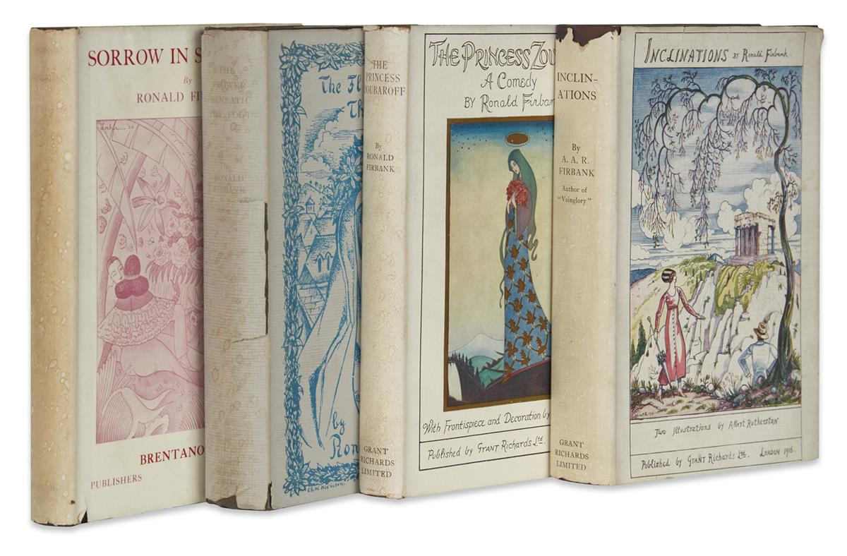 FIRBANK-RONALD-Group-of-4-First-Editions