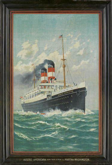 (AUSTRO-AMERICAN LINE.) Martha Washington. Austro Americana New Twin Screw S/S Martha Washington.