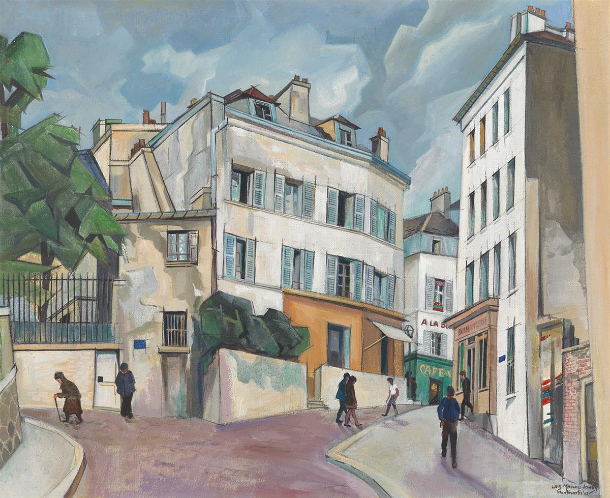 LOÏS MAILOU JONES (1905 - 1998) Vieille Rue, Montmartre (Rue Pinteau).