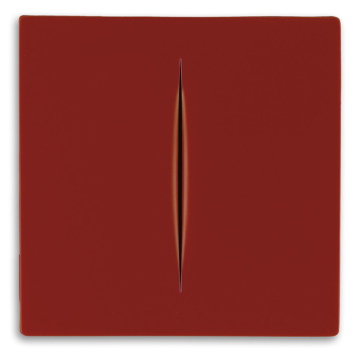 LUCIO-FONTANA-Concetto-Spaziale-(Rosso)
