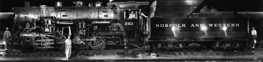 O. WINSTON LINK (1914-2001) S-1a Switcher and Its Crew, Shaffers Crossing, Roanoke, Virginia.