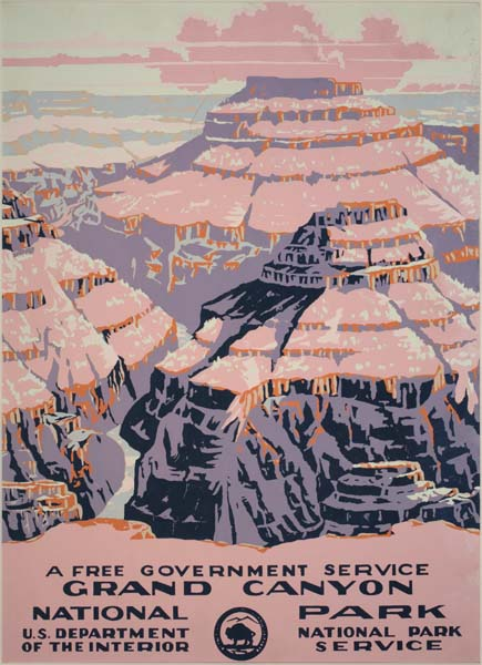 ANONYMOUS GRAND CANYON. Circa 1938. 19x14 inches.