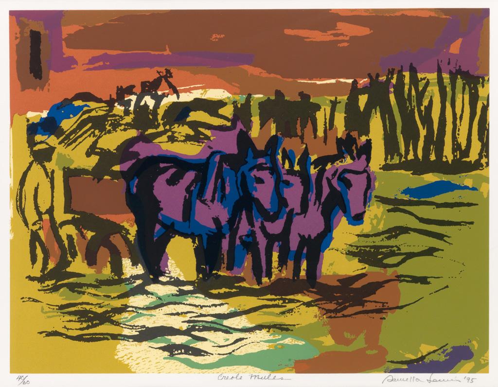SAMELLA LEWIS (1924 -   ) Creole Mules.