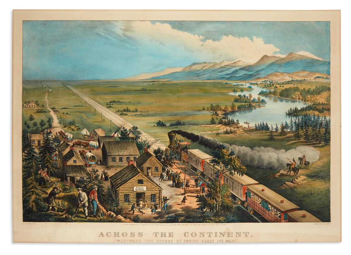 CURRIER--IVES-Across-the-Continent-Westward-the-Course-of-Em