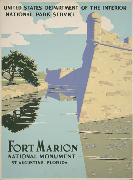 ANONYMOUS FORT MARION. Circa 1938. 19x14 inches.