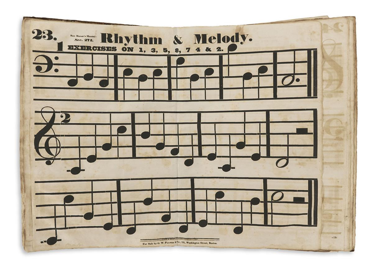 (MUSIC.) Mason, Lowell. Musical Exercises for Singing Schools,