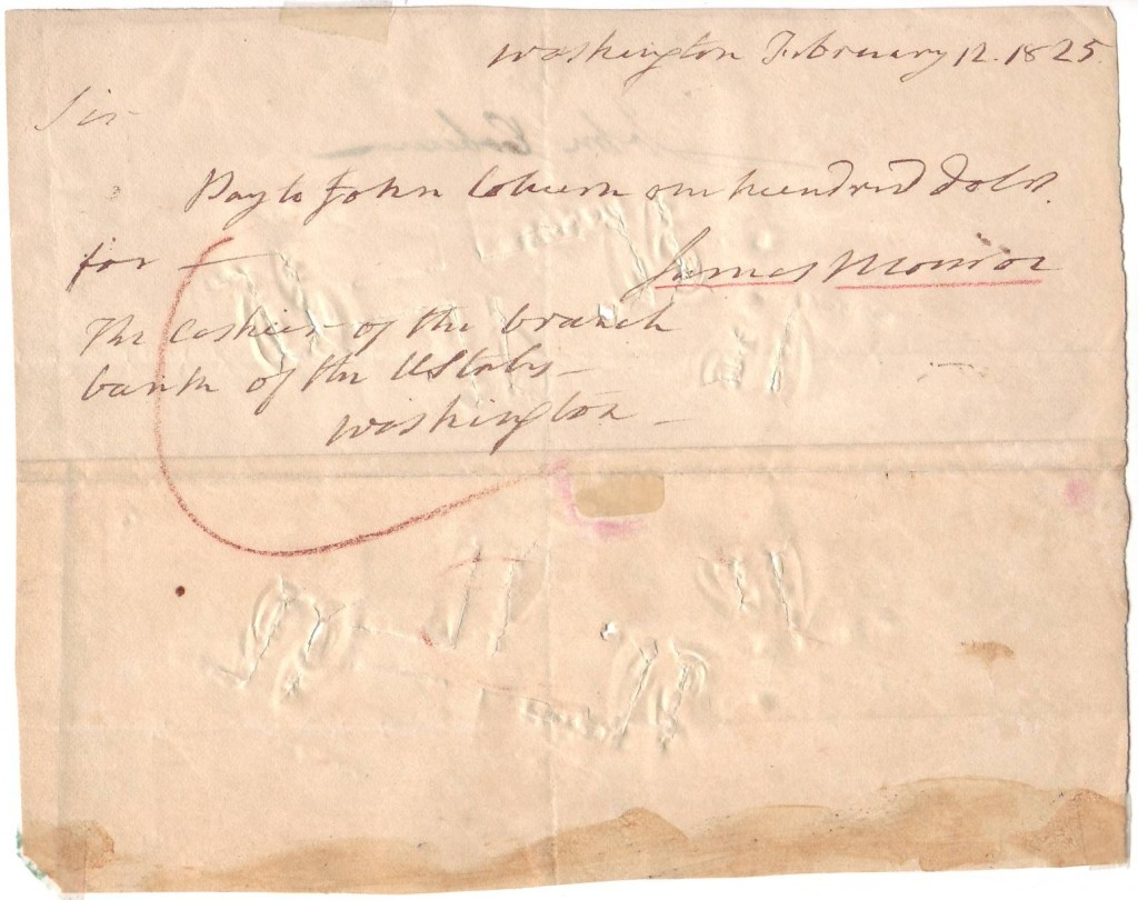 MONROE-JAMES-Autograph-Document-Signed-as-President-a-draft-