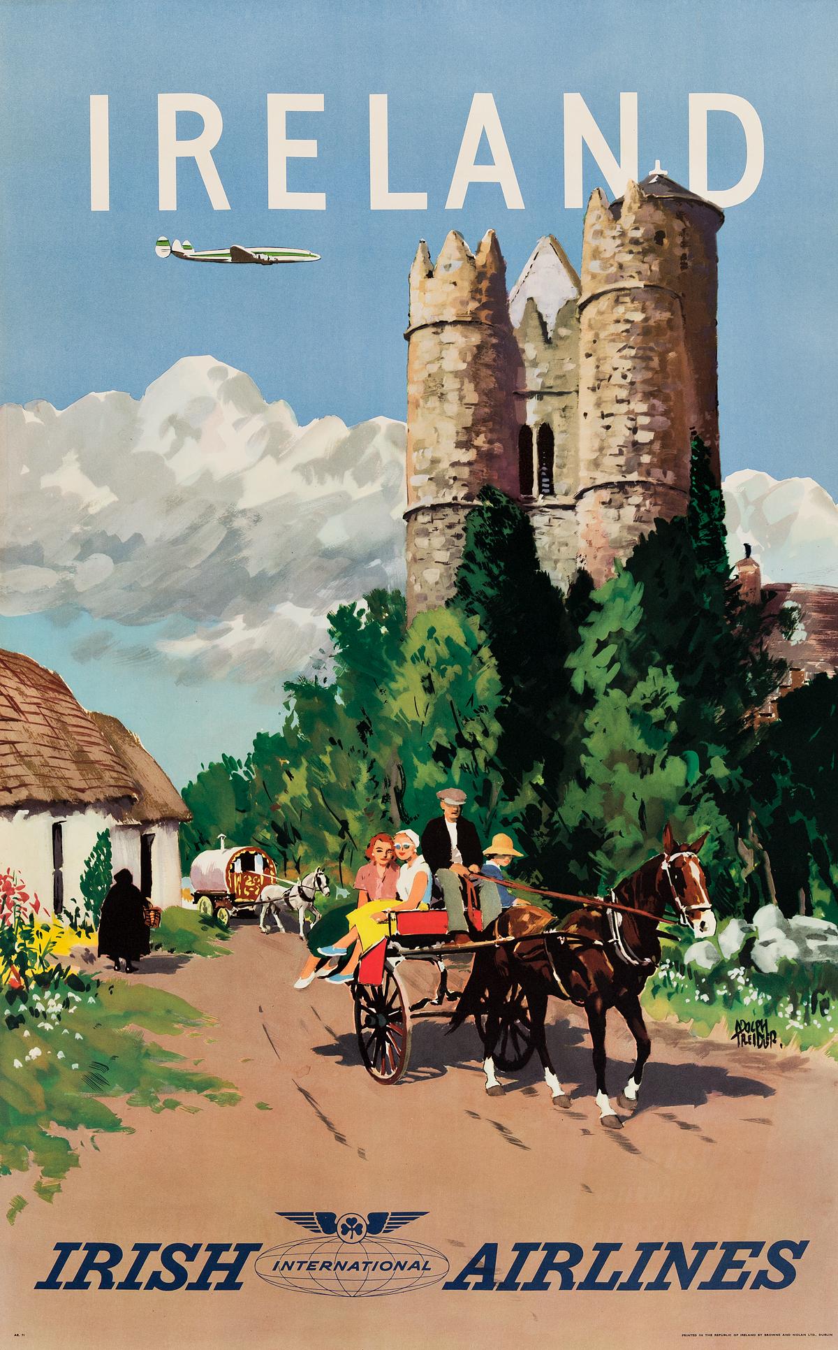ADOLPH-TREIDLER-(1886-1981)-IRELAND--IRISH-INTERNATIONAL-AIRLINES-Circa-1950s-39x24-inches-101x63-cm-Browne-and-Nolan-Ltd-Dubli