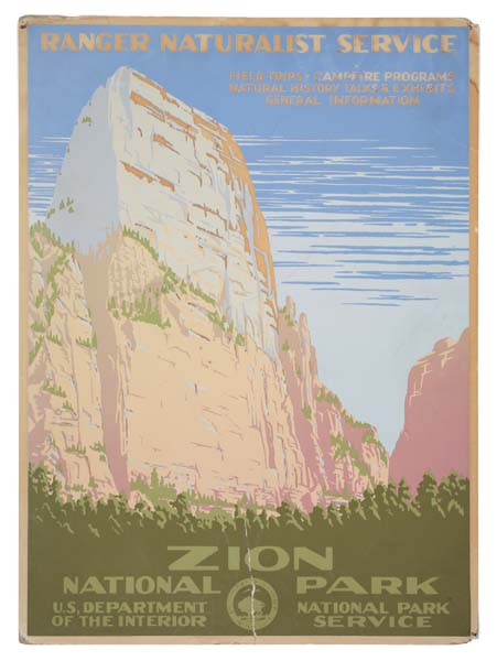 ANONYMOUS ZION NATIONAL PARK. Circa 1938. 19x14 inches.