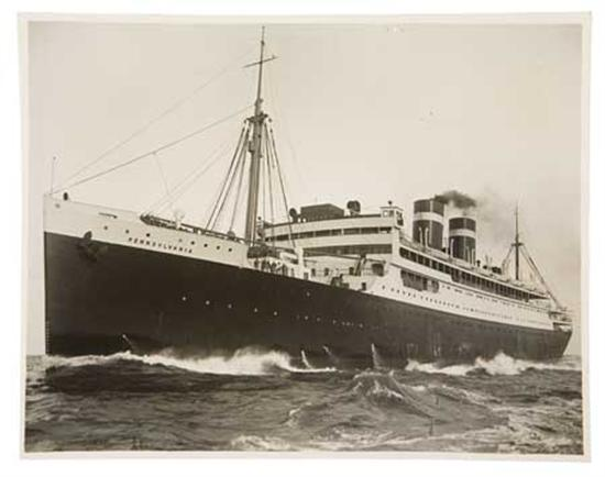 (PANAMA PACIFIC LINE.) Group of over 50 photographs of ships in the fleet, with slightly more vintage than...