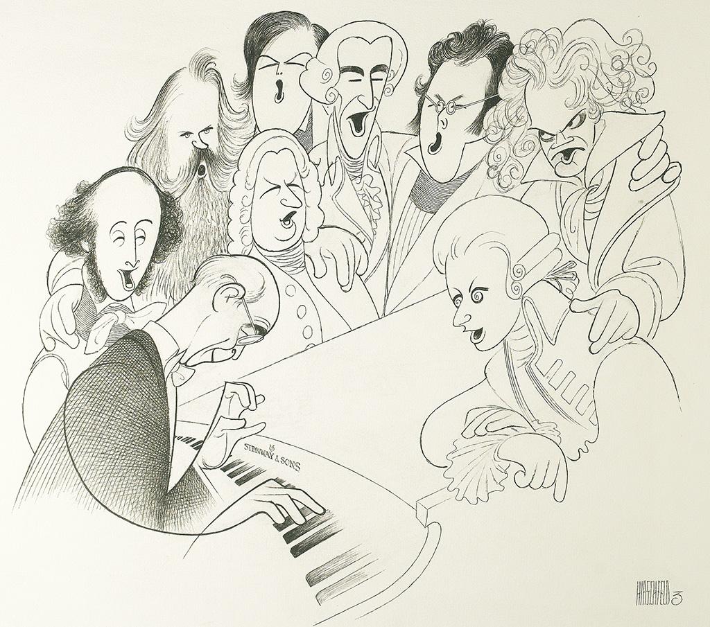 AL HIRSCHFELD. Sing Along With Rudolph Serkin.