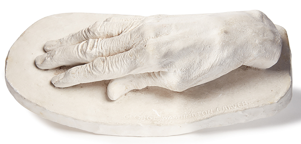 (EDUCATION--TUSKEGEE.) HATHAWAY, HENRY. Three plaster pieces from the workshop of Henry Hathaway at Tuskegee: castings of George Washin