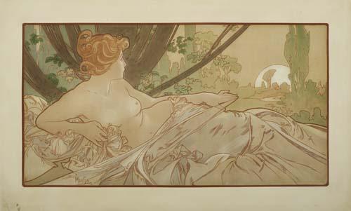 ALPHONSE-MUCHA-(1860-1939)-DAWN-1899-23x30-inches