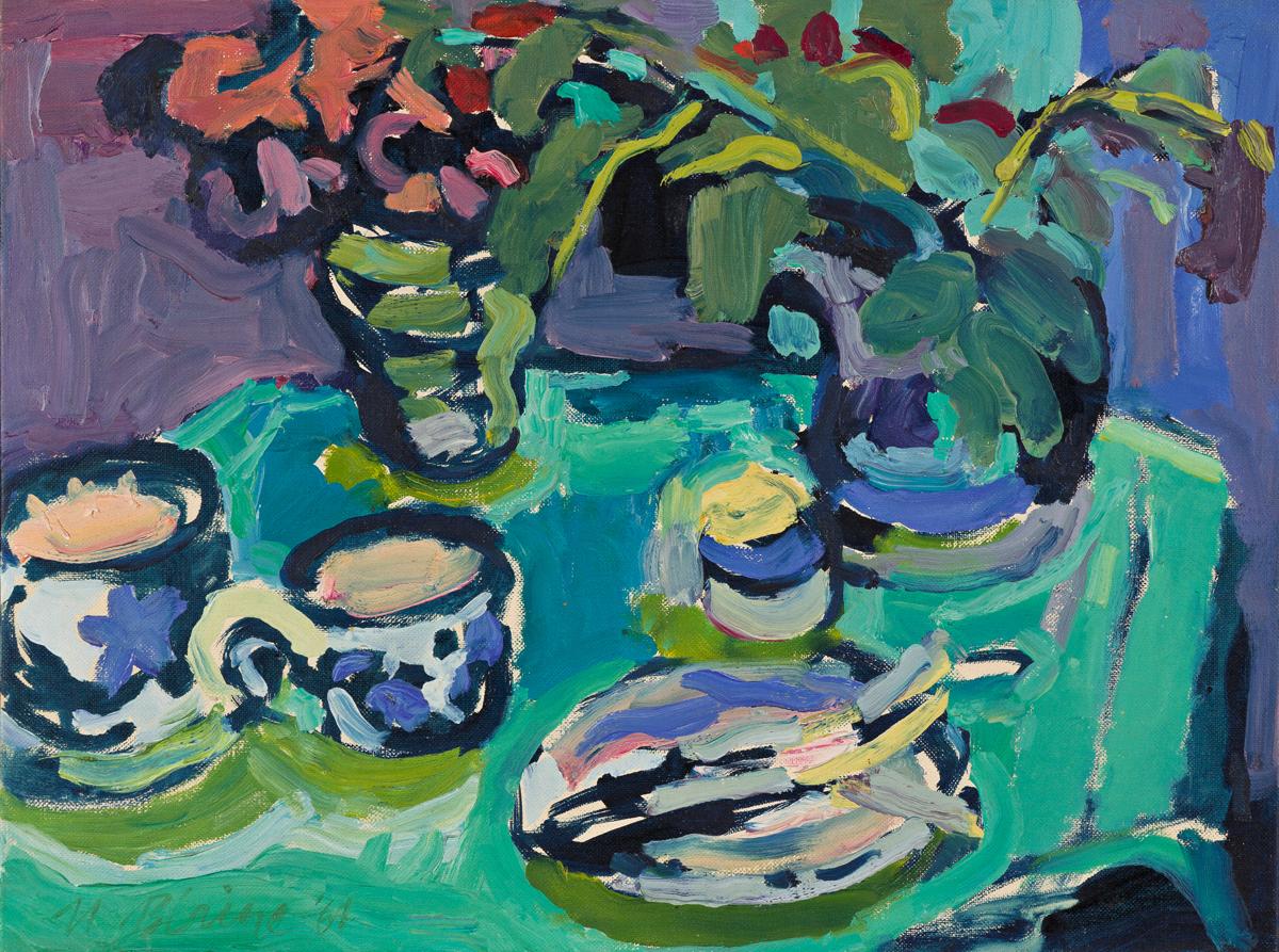 NELL BLAINE Still Life with Teacups.