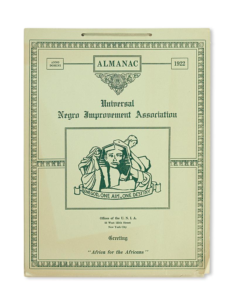 GARVEY, MARCUS. The Universal Negro Improvement Association Almanac. 1922.