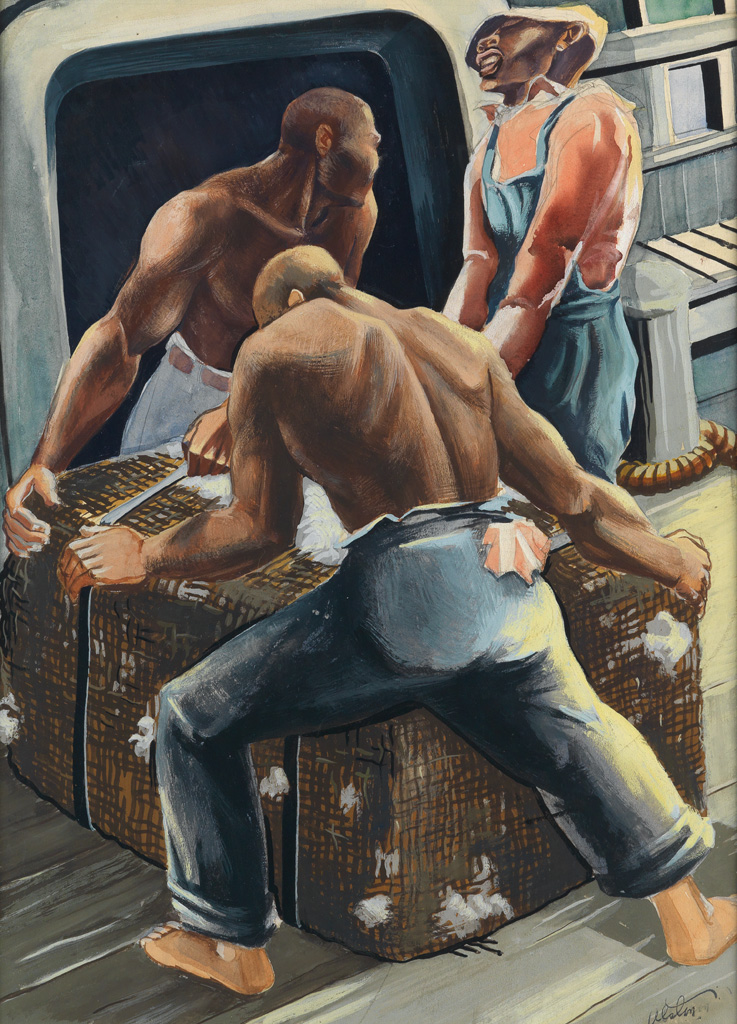 CHARLES ALSTON (1907 - 1977) Workers (Illustration).