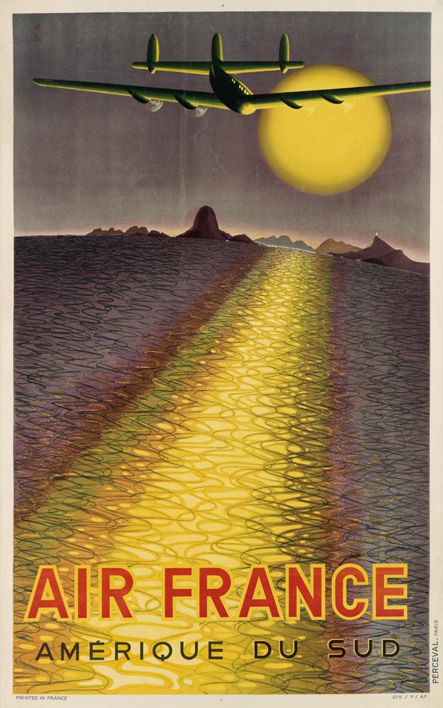 VICTOR-VASARELY-(1908-1997)-AIR-FRANCE--AMÉRIQUE-DU-SUD-1946