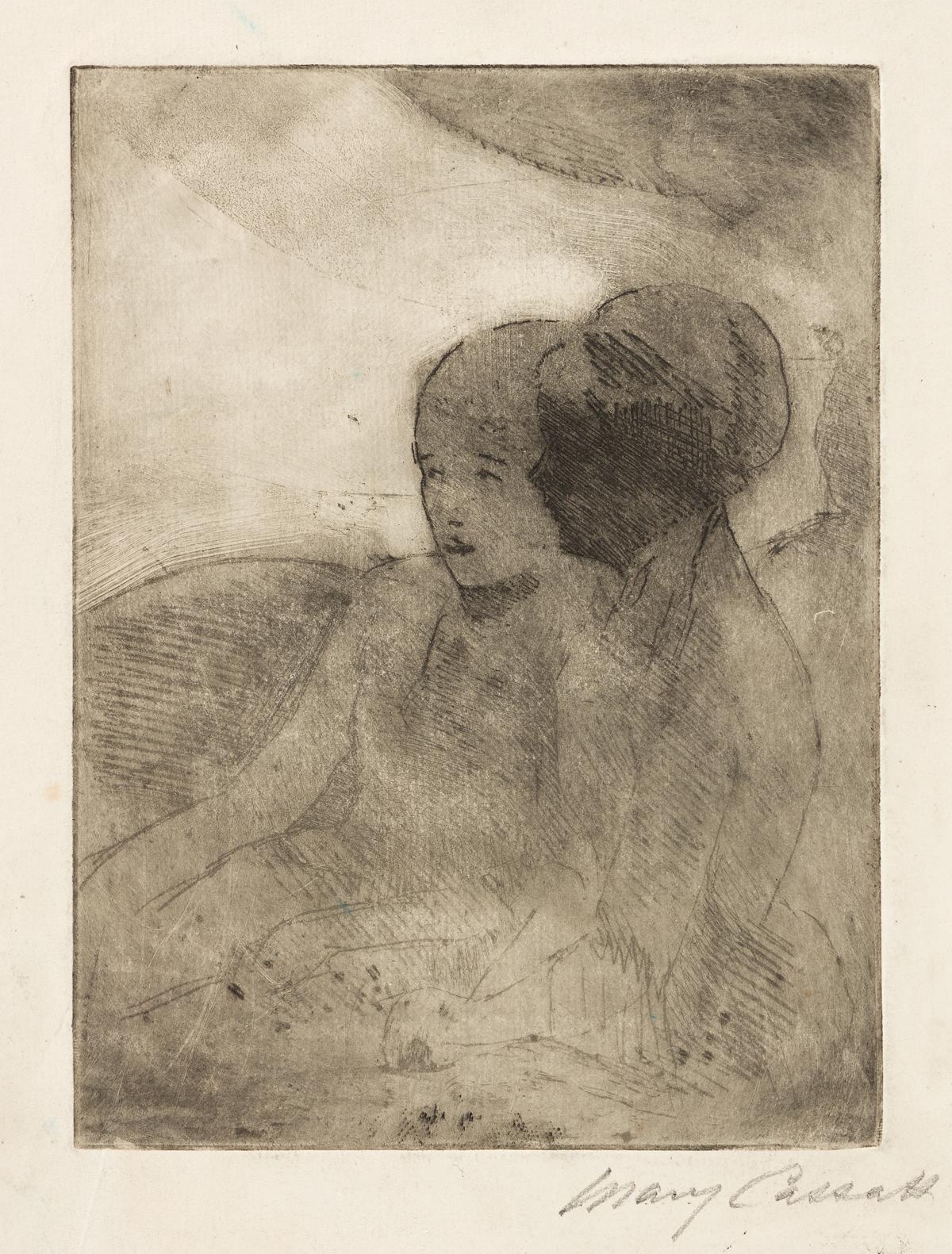 MARY CASSATT Two Ladies in a Loge, Facing Left (no.2).