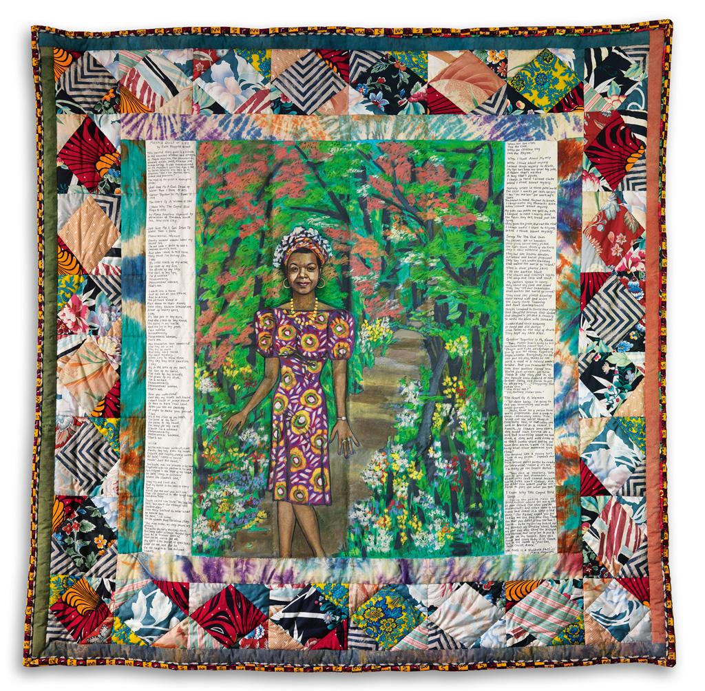 FAITH RINGGOLD (1930 -    ) Mayas Quilt of Life.