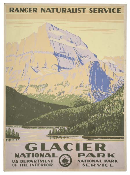 ANONYMOUS GLACIER NATIONAL PARK. Circa 1938. 19x14 inches.