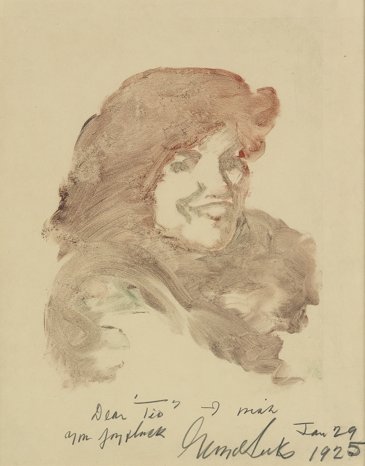 GEORGE-LUKS-Study-of-a-Smiling-Woman