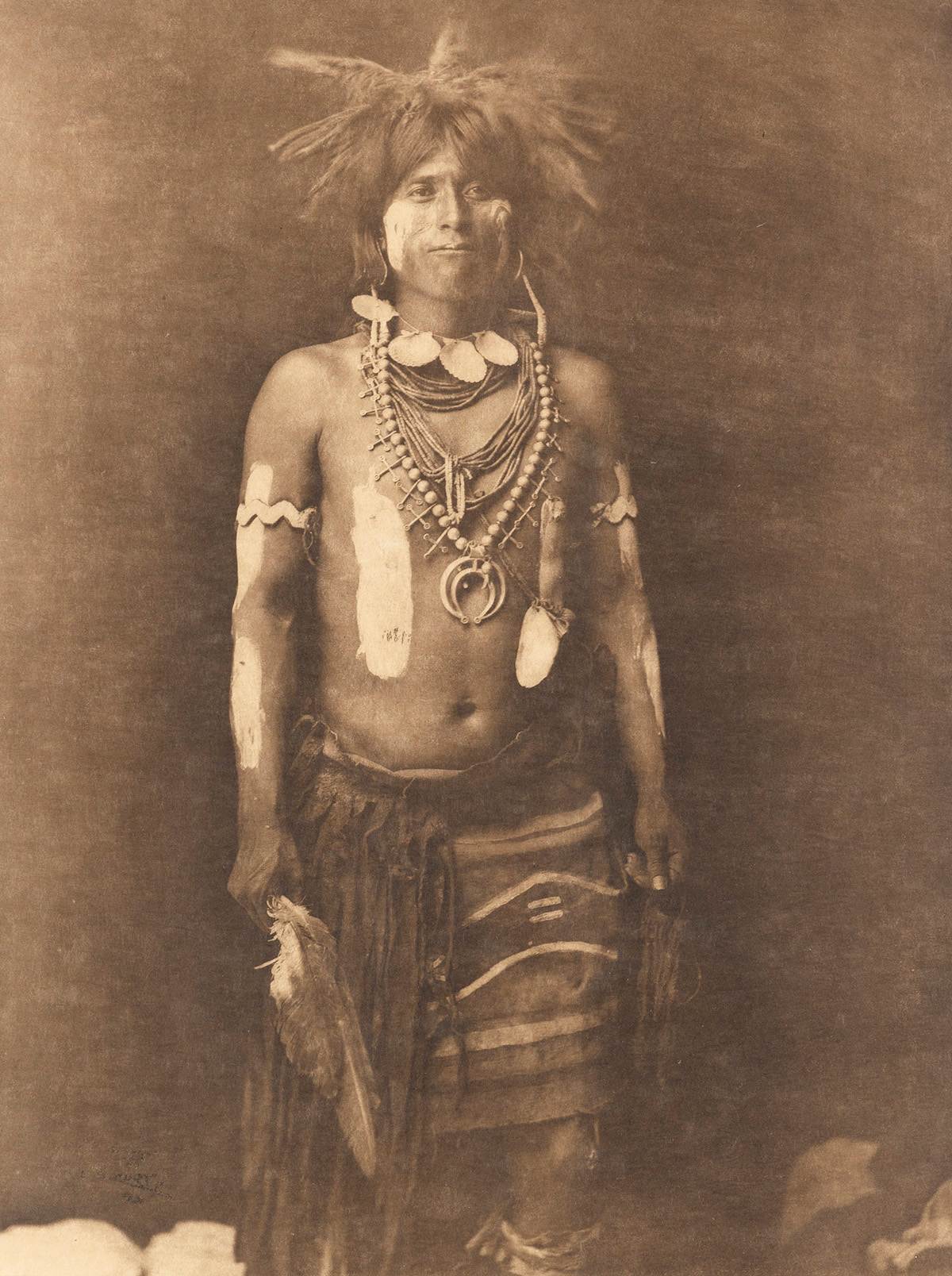 EDWARD S. CURTIS (1868-1952) Group of 4 large-format photogravures from The North American Indian.