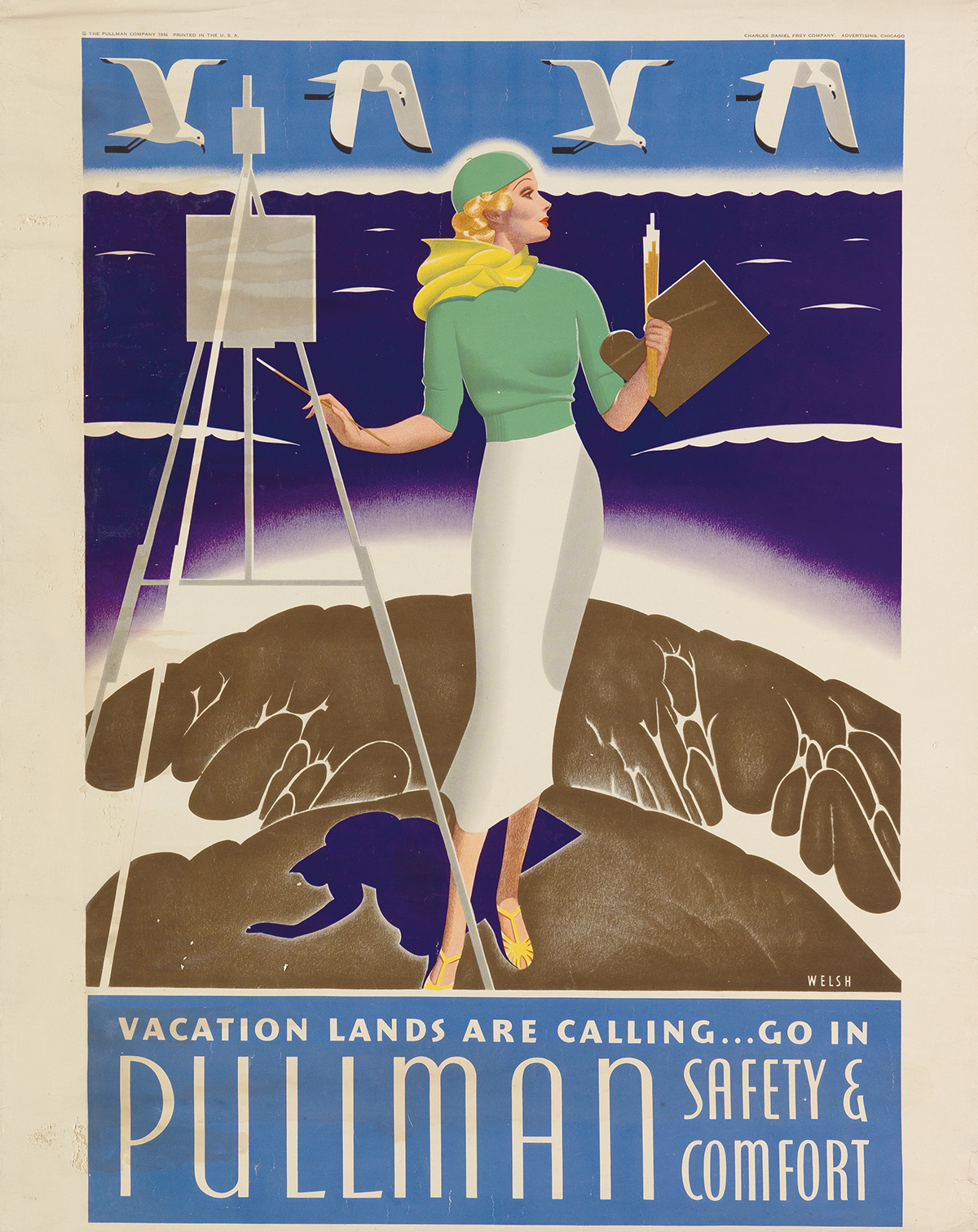 WILLIAM-P-WELSH-(1889-1984)-VACATION-LANDS-ARE-CALLING-----G