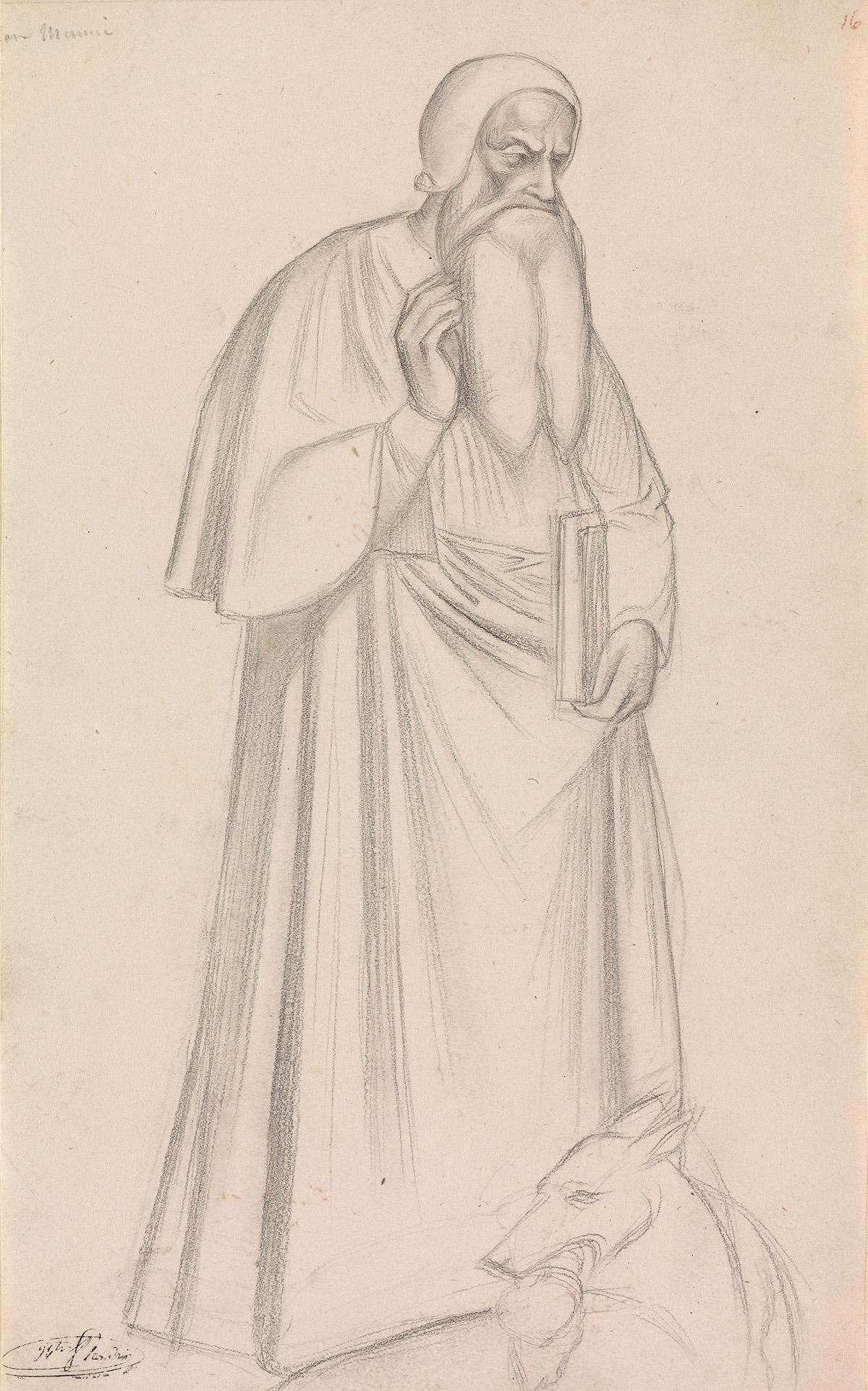 JEAN-HIPPOLYTE-FLANDRIN-(Lyon-1809-1864-Rome)-Group-of-4-pen