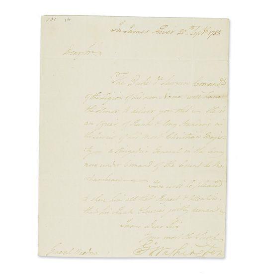 WASHINGTON-GEORGE-Letter-Signed-G°Washington-to-Brigadier-Ge