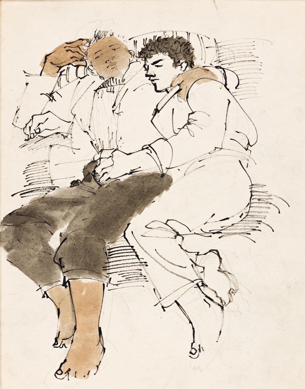 AVEL DE KNIGHT (1923 - 1995) Two Drawings.