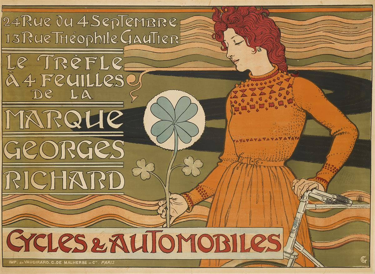 EUGÈNE-GRASSET-(1841-1917)-MARQUE-GEORGES-RICHARD--CYCLES--A