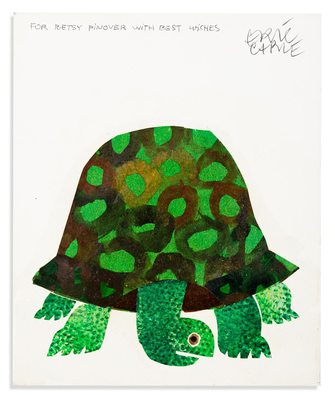 ERIC CARLE (1929- ) The Foolish Tortoise. [CHILDRENS / TURTLES]