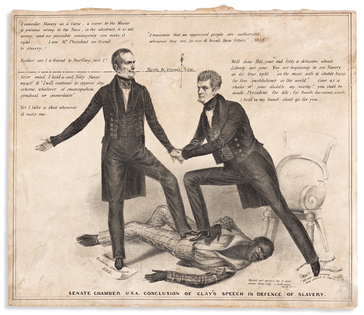 (SLAVERY AND ABOLITION.) Senate Chamber U.S.A. Conclusion of Clays Speech in Defence of Slavery.