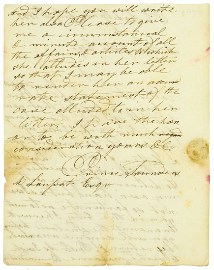 (HAITI.) SAUNDERS, PRINCE. Autograph Letter Signed.